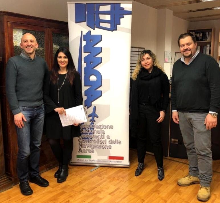 From feft to right: Simone Pozzi, CEO of Deep Blue; Giusy Sciacca, National Secretary of ANACNA; Michela Terenzi R&D Manager at Deep Blue; and Oliviero Barsanti President of ANACNA.