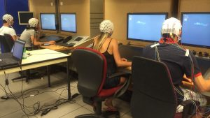 EEG recording session performed within the NINA project dedicated to neurometrics in Air Traffic Management